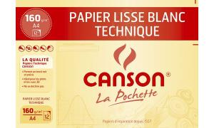 CANSON technisches Zeichenpapier, DIN A4, 160 g/qm, weiß