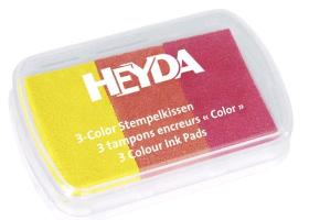 HEYDA Stempelkissen 3-Color, gelb/orange/rot
