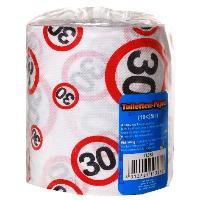 Toilettenpapier 25 Meter mit Verkehrschild Zahl 30