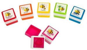 Lehrerstempel Fleißbienen selbstfärbend 6 Motive sortier...