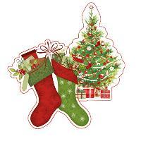 SUSY CARD 3D Anhängerkarten Weihnachten X-mas