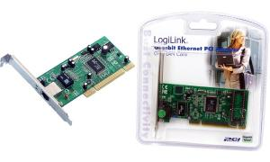 LogiLink PCI Gigabit Ethernet RJ45 Netzwerkadapter, 32 Bit