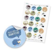 "24 x itenga Sticker ""Tiere Geburtstagssprüche Mix"" (Moti..."