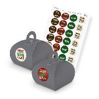 itenga SET Frohe Weihnachten (Motiv 48) 24x Geschenkscha...