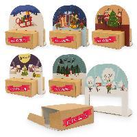 itenga Geschenkverpackung Set Weihnachten 6x Verpackun...