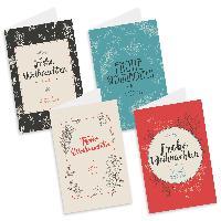 itenga Weihnachtskarten Vintage 8x Klappkarte DIN A6 +...